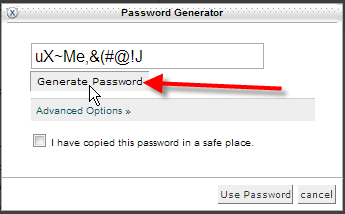 click generate password a few times