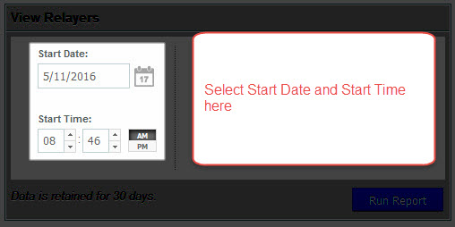 Select Start date and time