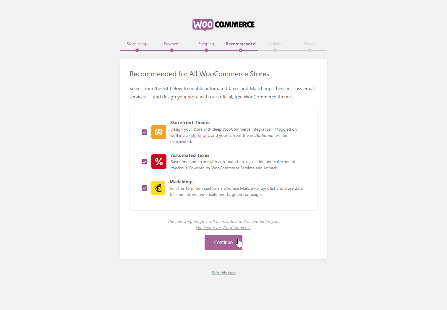 Recommended Woocommerce addons.