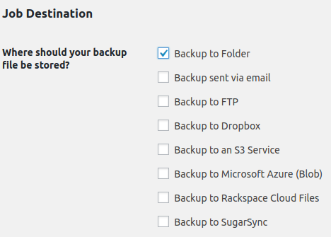 BackWPup external backup options
