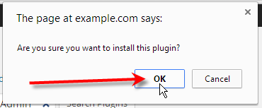 click ok on confirmation pop up