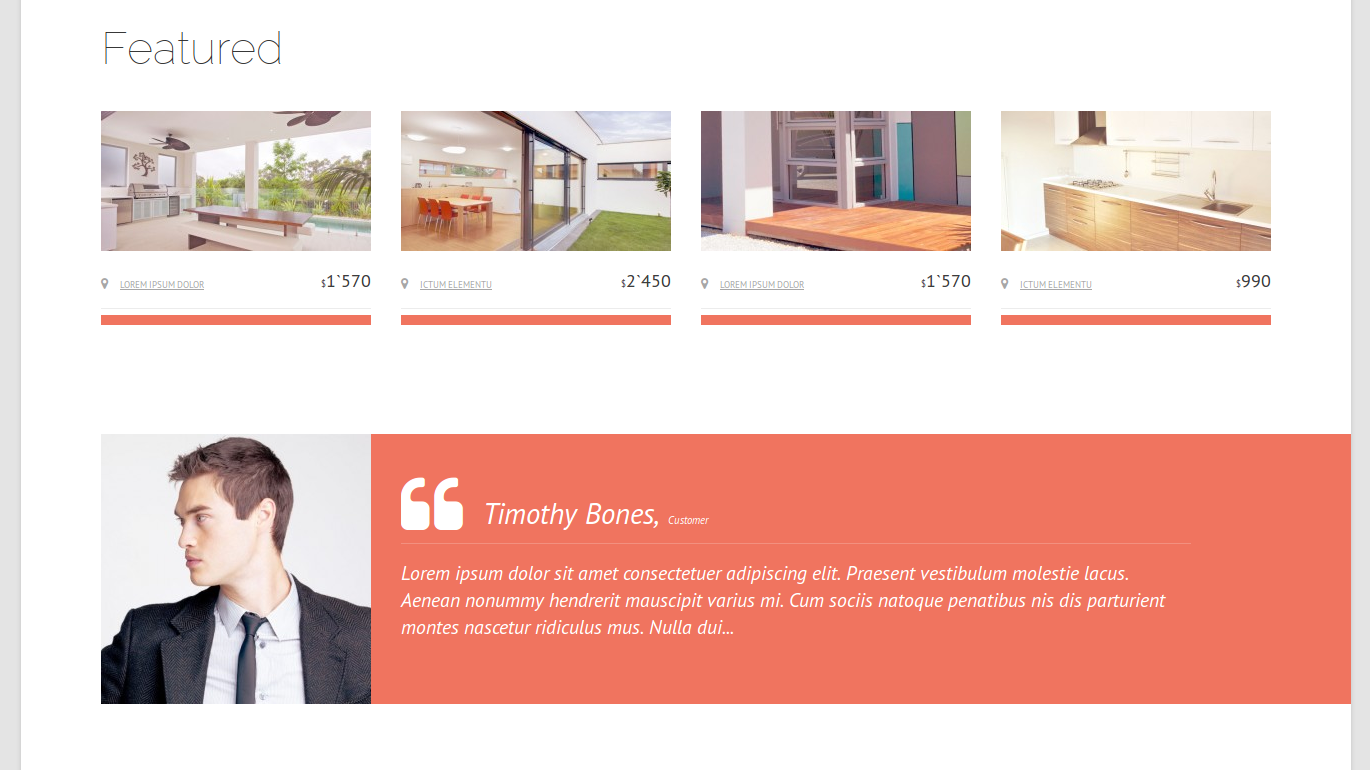 Real Estate Agency theme by Template Monster | InMotion Hosting