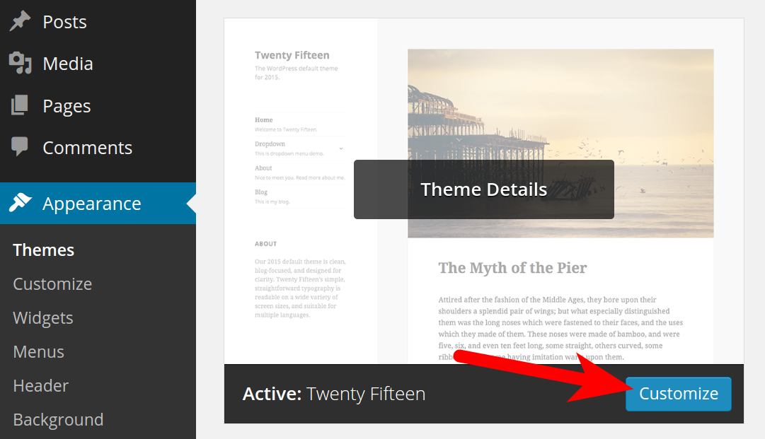 WP Theme Modification