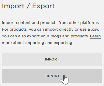 Select Export
