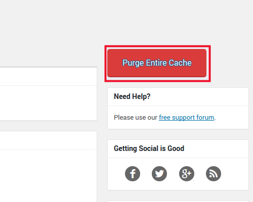 Purge Entire Cache Button