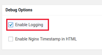 Turn on the Enable Logging button