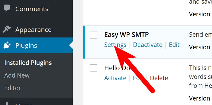 Setting up SMTP Settings in WordPress